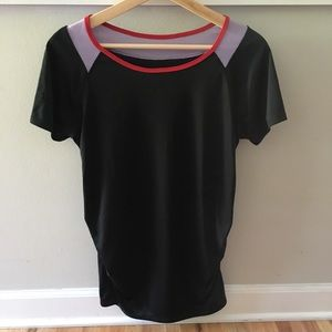 Isabel Maternity Black Mesh Workout Top NWOT